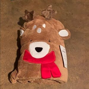 NWT Carter's Roll-me-up Plush Blanket - Reindeer